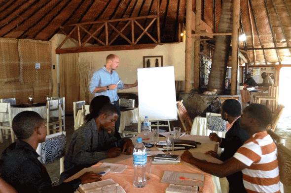 Eric Soard teaching a writing workshop