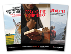 Covers of Three Resource Booklets - 2016 Upper Room