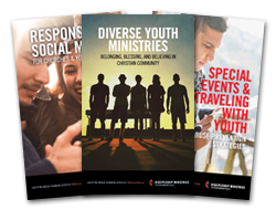 Covers of Three Resource Booklets - 2016 Young People's Ministries