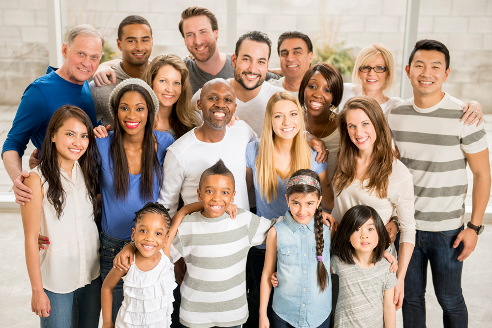 group of people with diverse ages and ethnicities