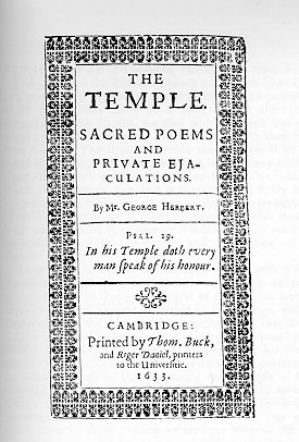 George Herbert - The Temple title page