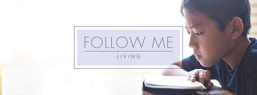 Living: FOLLOW ME - boy reading Bible