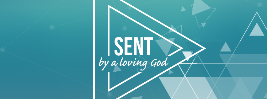 Loving: SENT over blue background