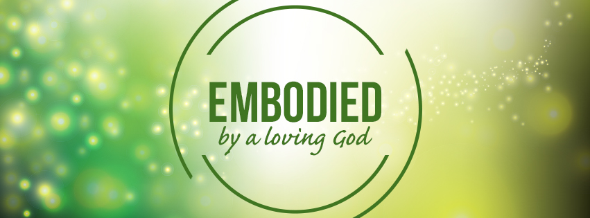 Loving: EMBODIED over green background