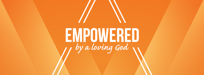 Loving: EMPOWERED over orange background