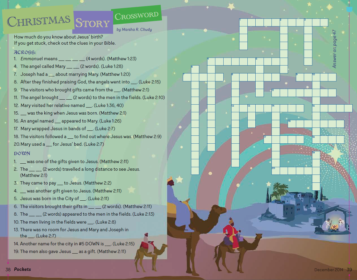 Christmas Story Crossword for Children - Discipleship Ministries ...