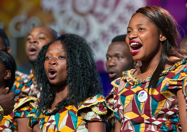 Singers from the Africa University Choir