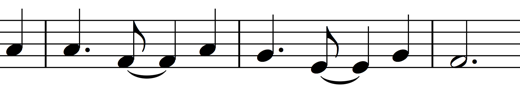 Blest Be The Tie That Binds syncopated rhythm