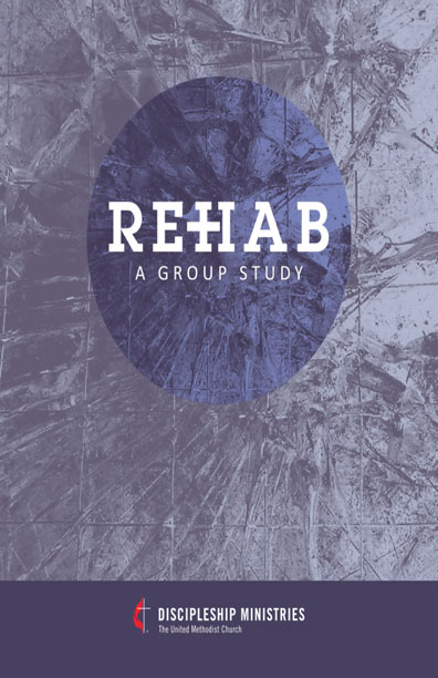 Rehab: A Group Study book cover - purple texture background