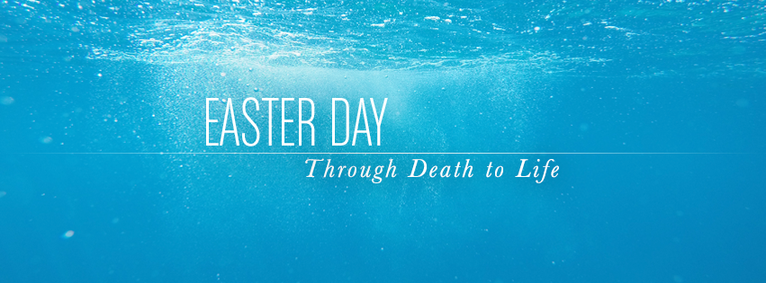 Easter Day facebook cover - water