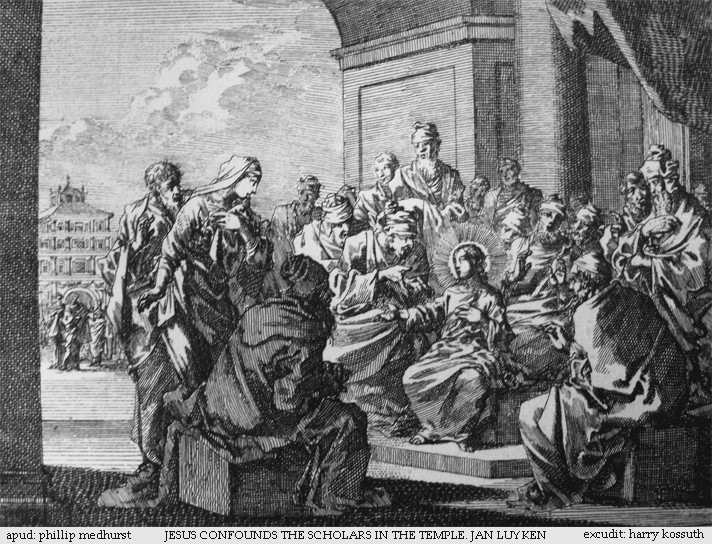 Jesus Confounds the Scholars in the Temple - Jan Luyken