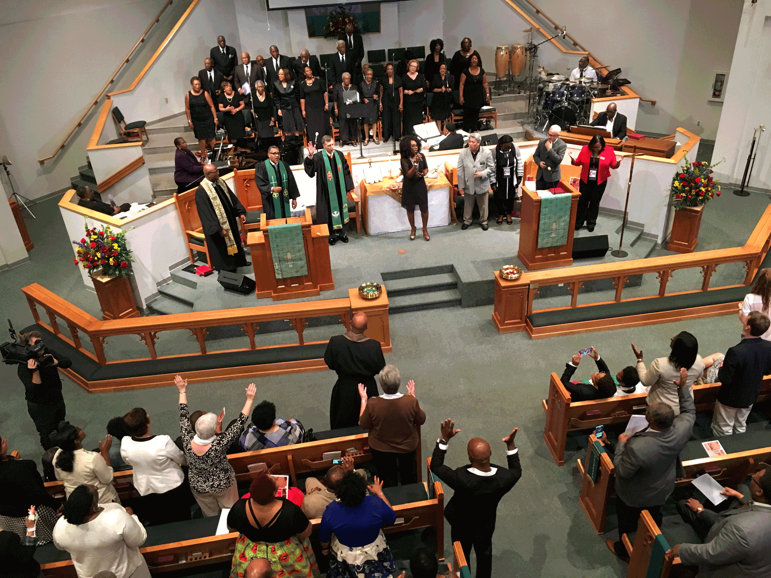 Balcony shot from Rev. Junius B Dotson's installation service at Gordon Memorial UMC, Nashville