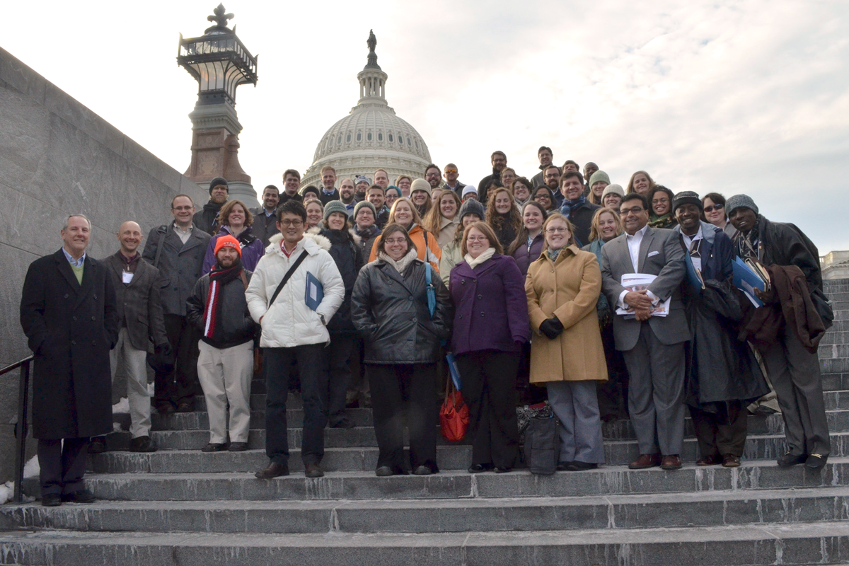 Young Clergy Leadership Forum attendees at the Capitol