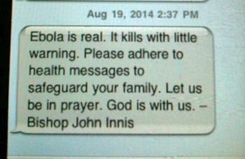 ebola message