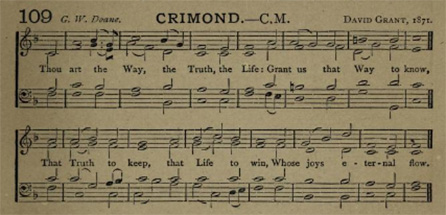 Figure 1. CRIMOND from The Northern Psalter (1872)