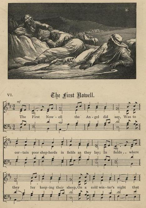 The First Nowell - first stanza sheet music
