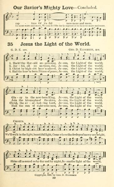 Jesus the Light of the World hymn