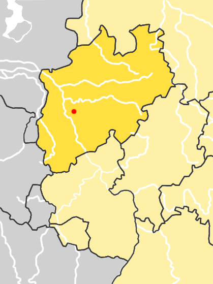 NorthRhine-Westphalia Germany map