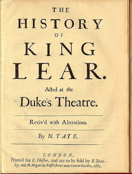 Nahum Tate's King Lear