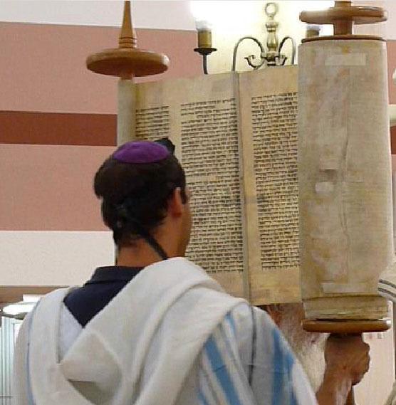 Raising of the Torah Scroll.