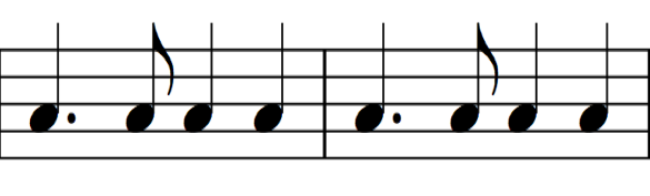 Rhythm notation for He Came Down
