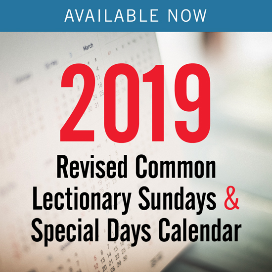 Umc Calendar 2019 2019 Revised Common Lectionary   Sundays & Special Days Only