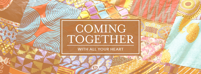 With All Your Heart: COMING TOGETHER - over quilt